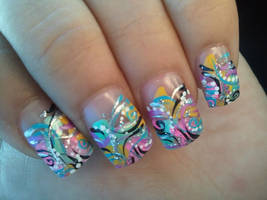Funky Nail Design by grlwonder