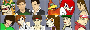 Video Game Wars - Roster