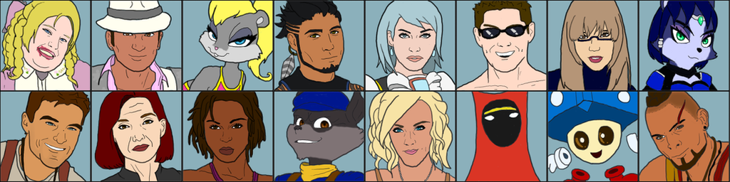 Video Game Wars 7 - Roster by Owlot