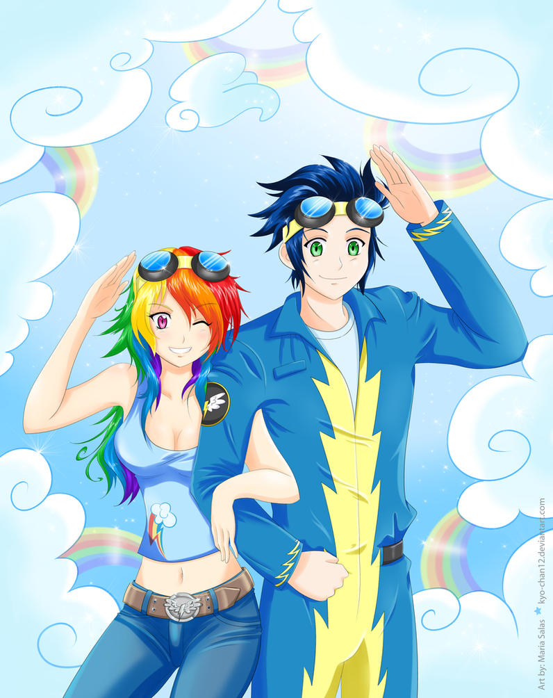 Human Rainbowdash and Soarin by Kyo-chan12 on DeviantArt