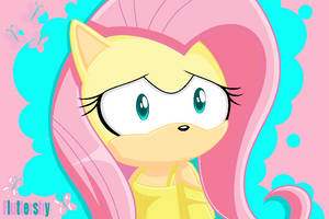 Fluttershy (Sonic style) by SonicandMe901
