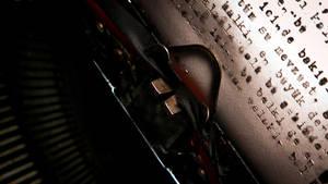 Typewriter daktilo maszyna pis