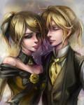 Vocaloid_Rin_Len_Aku no musume_Aku no meshitsukai