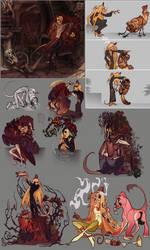 Monster interactions by Liktar