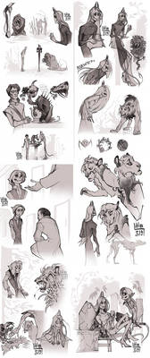 Sketchdump of the past