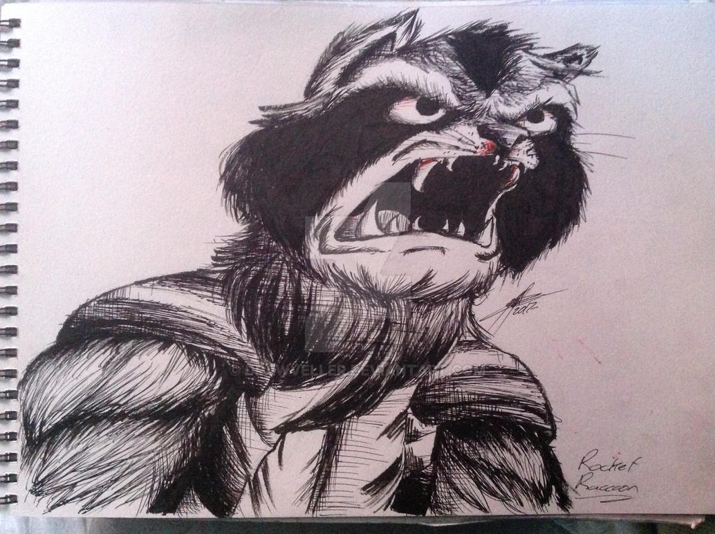 Rocket Raccoon by DrawVeller