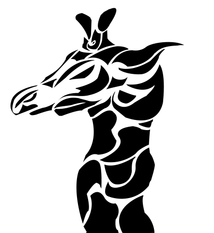 Tribal giraffe tattoo - photo#50