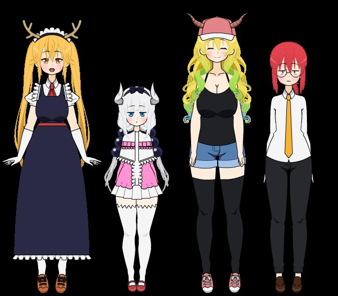 Miss Kobayashi's Dragon Maid (Kisekae Exports!) by Kimitsuki
