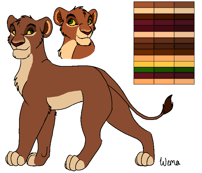 Wema Reference Sheet by lionobsession