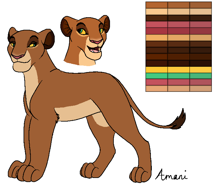 Amani Reference Sheet by lionobsession