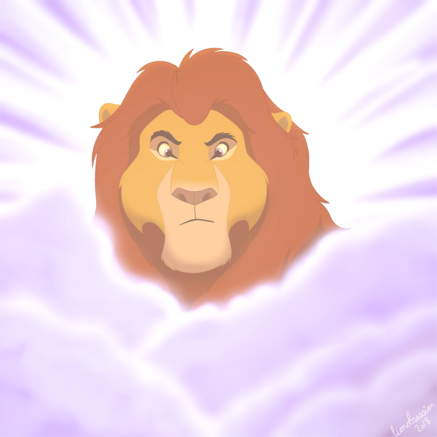 Mufasa In The Clouds by lionobsession