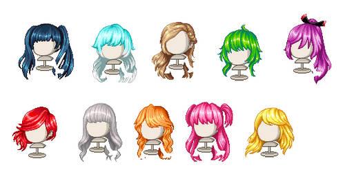 Fashion Battle Hairs by Minitricia