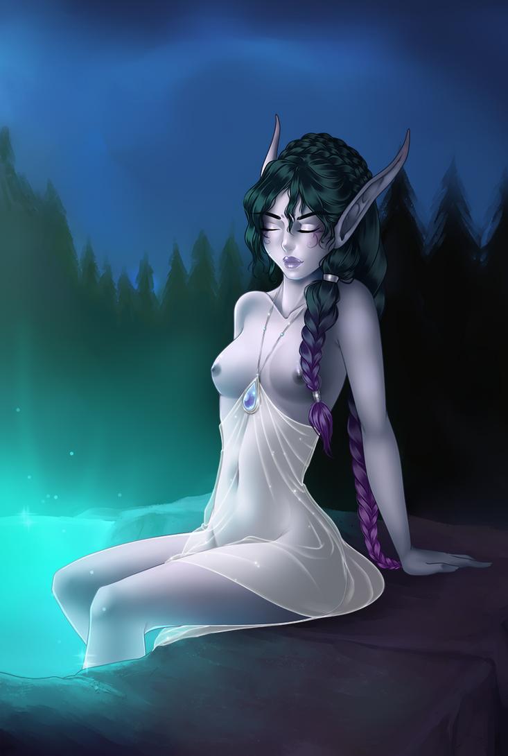 Bathe in the moonwell by Rishnea