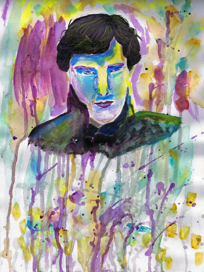 Experimental Portrait #2 Sherlock by Bloodfire09