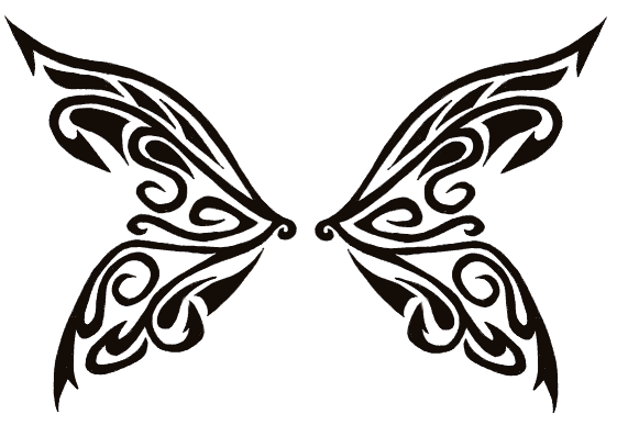 Tribal Butterfly Wings - butterfly tattoo
