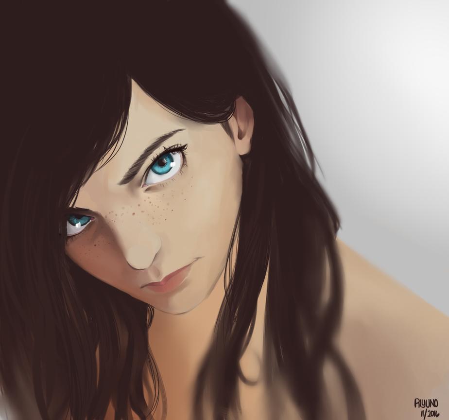Blue Eyes by Riyuka