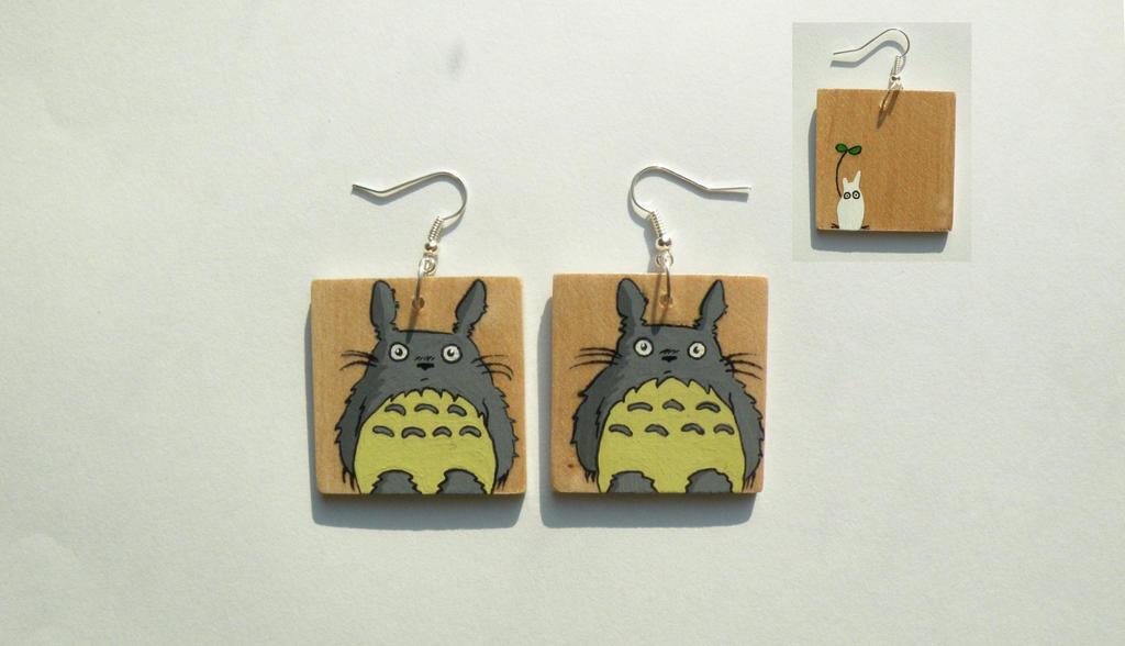 Totoro Earrings by faktoria-f