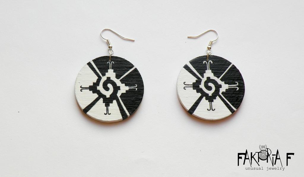 Hunab Ku Earrings by faktoria-f
