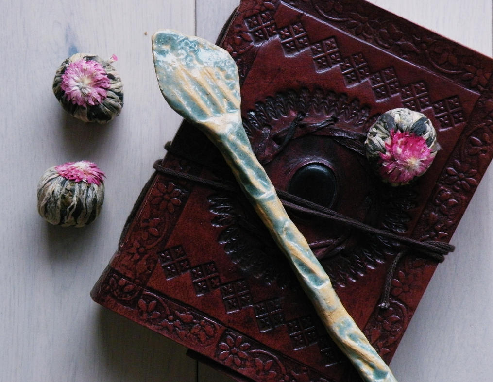 Pale Green Spoon - WitchCraft Set by faktoria-f