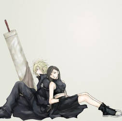 Cloud and Tifa by Bishi-Hunter