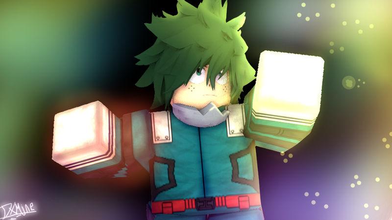 Boku No Hero Academia Roblox Izuku Midoriya Boku No Hero Academia Roblox Gfx By Dxminecrafter On Deviantart