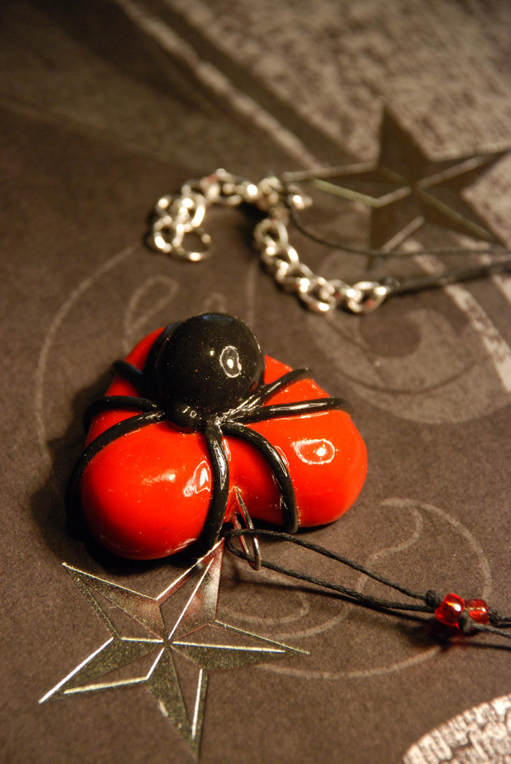 Black Widow Necklace by Knives4588