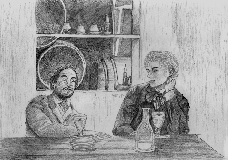 Rimbaud and Verlaine by Raajeyah