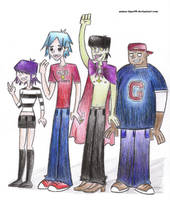 Gorillaz TDI style COLOURED by anime-tiger09