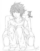 L Sitting by anime-tiger09