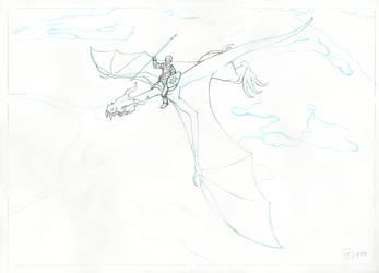 Dragon Pencils by benlukaserekson