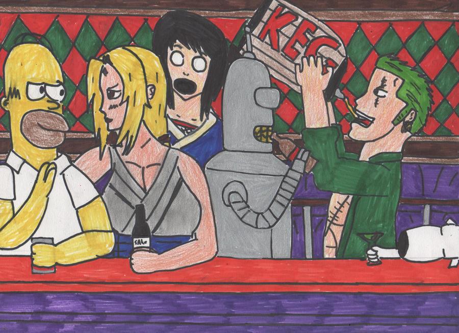Outrageous Alcoholics by DelphiniumFleur