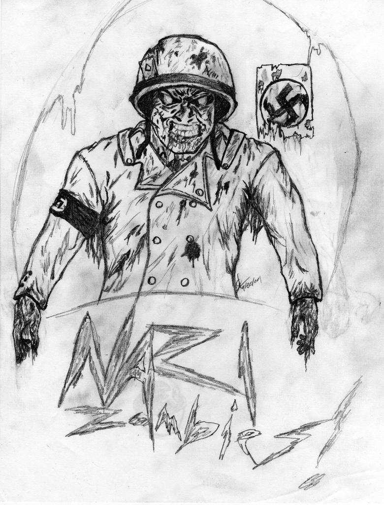nazi zombies by xwolfie212x - Black Ops Zombies Coloring Pages