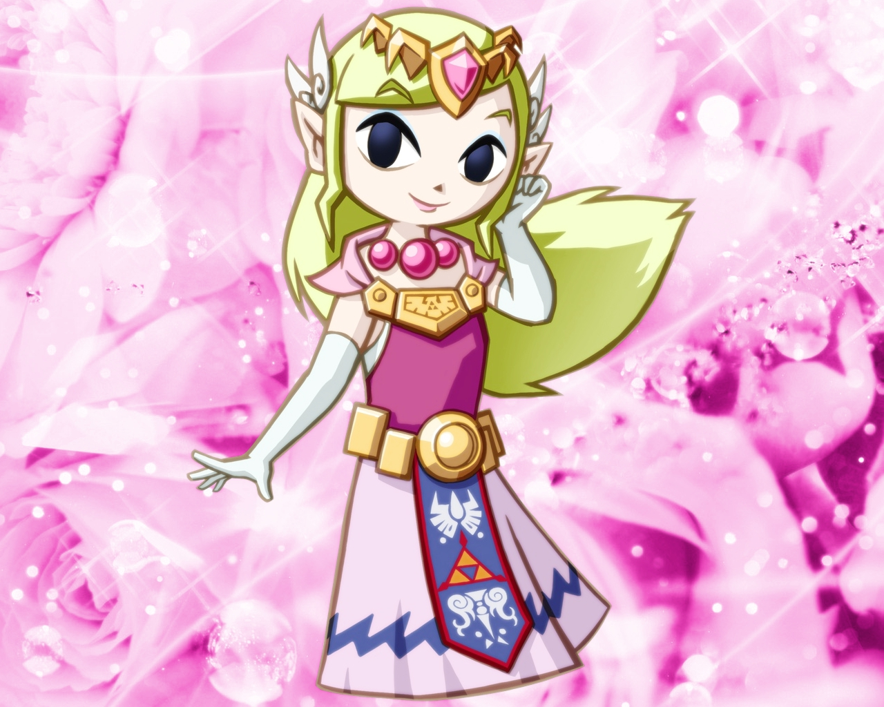 Princess Toon Zelda Flowers By PrincessZeldaLady