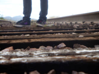 I'm walking on train tracks