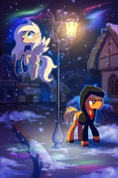 Through time and snowfall (art-trade)