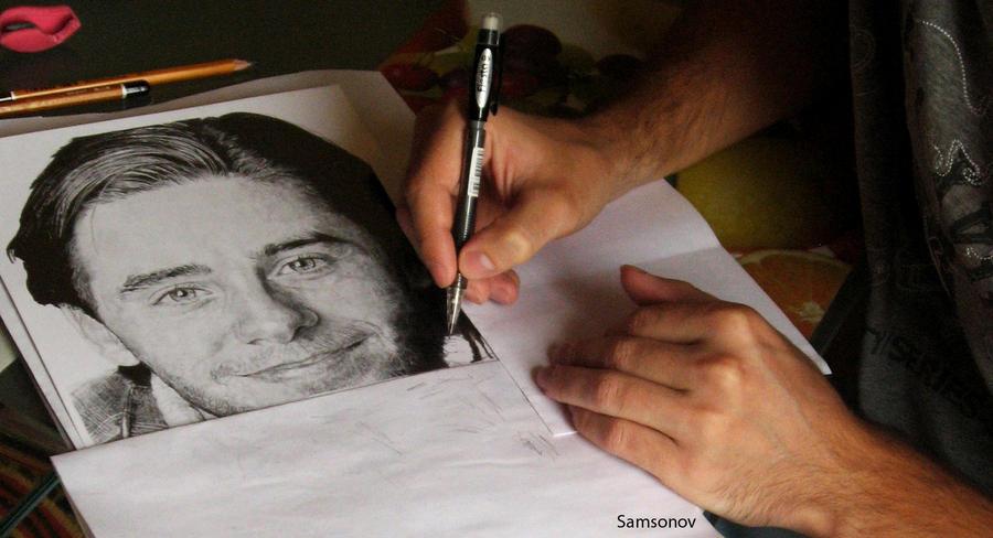 drawing process by MSamsonov