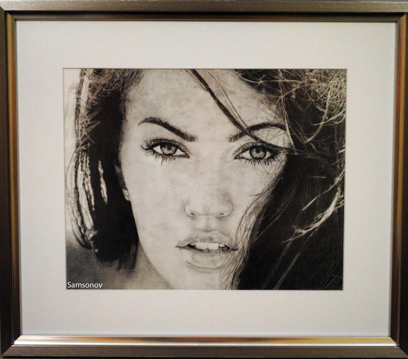 Megan Fox (pencil) by MSamsonov