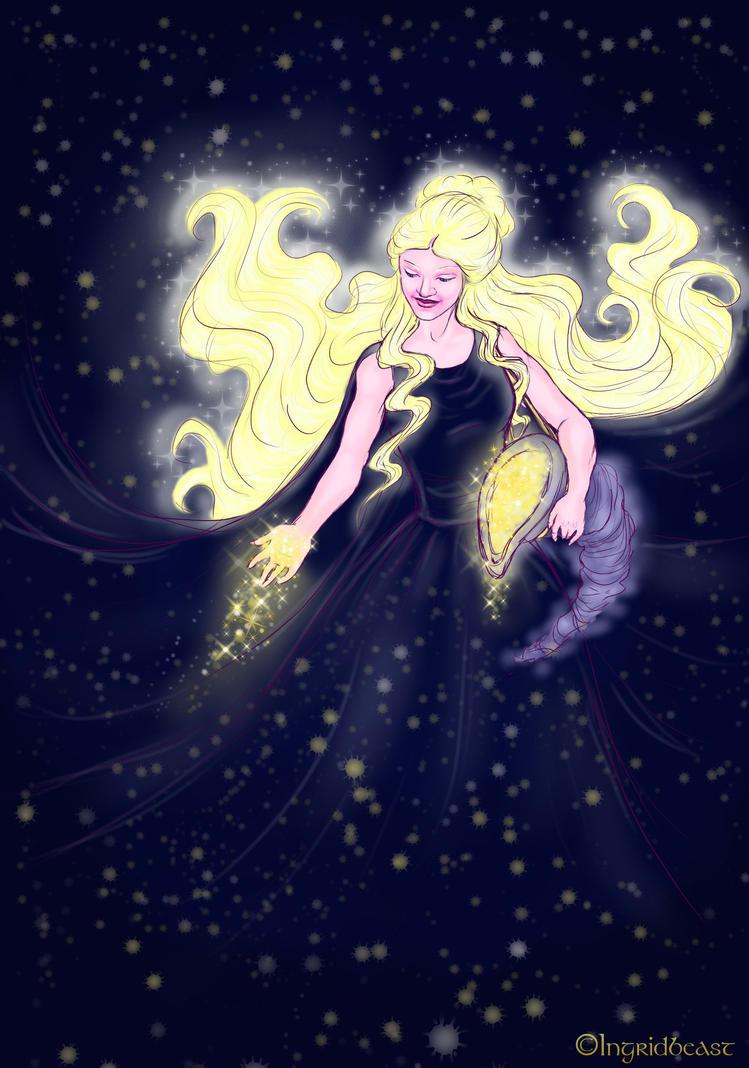 Varda - Queen of the Night Skies by IngridBeast
