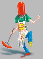 Hot Dog boy Concept art by AdanFlores