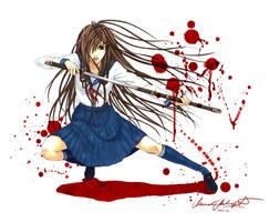 Samurai School Girl by Zanariya