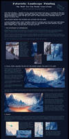 Futuristic Landscape Painting - Step By Step Part2