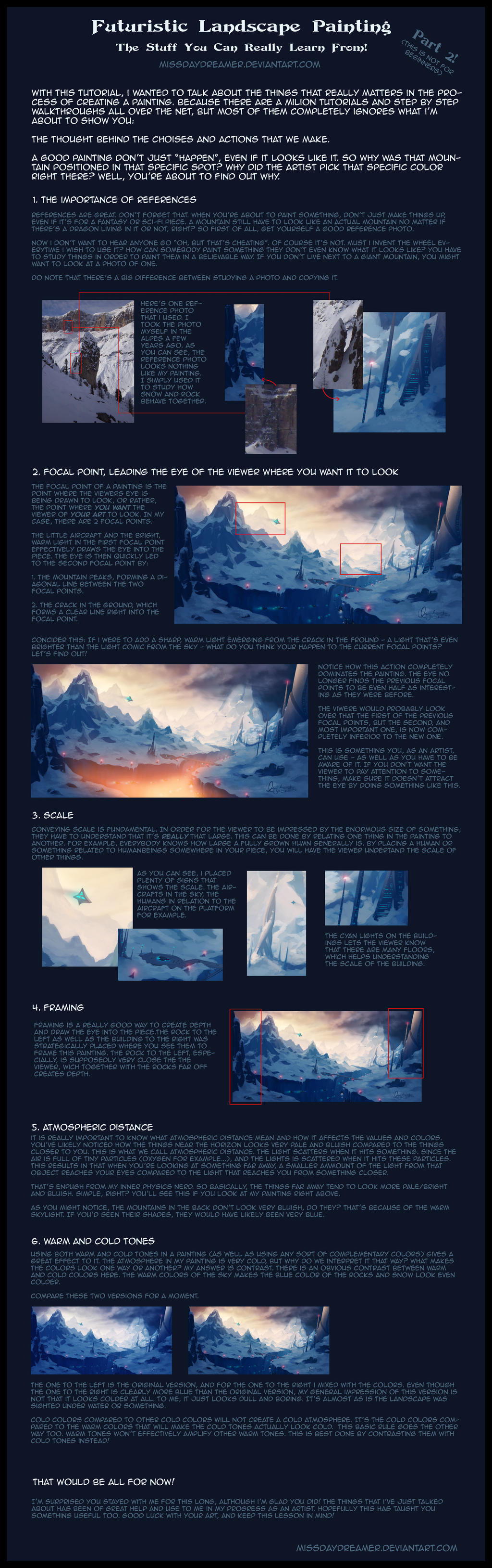 Futuristic Landscape Painting - Step By Step Part2 by Zanariya
