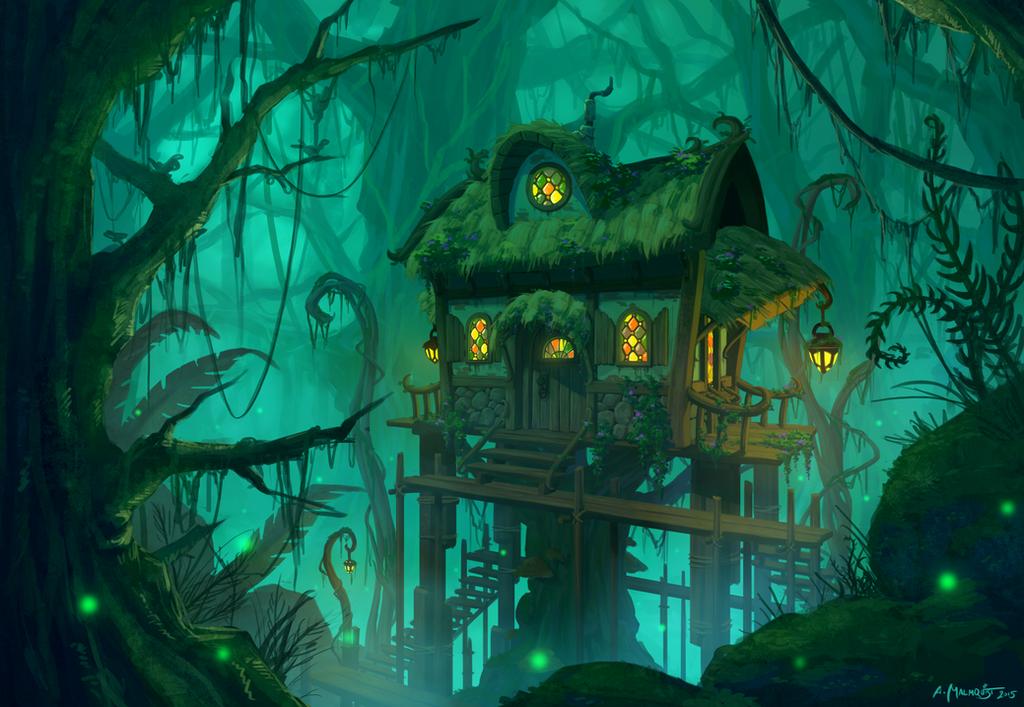 Swamp Cottage by Zanariya
