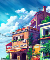 The Balcony by Zanariya