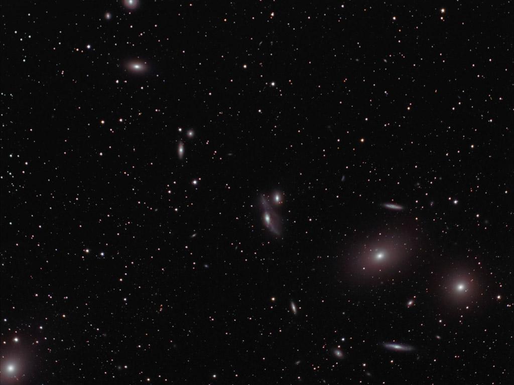 Virgo Galaxy Cluster by DoomWillFindYou