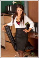 Sexy secretary by darkroomdave