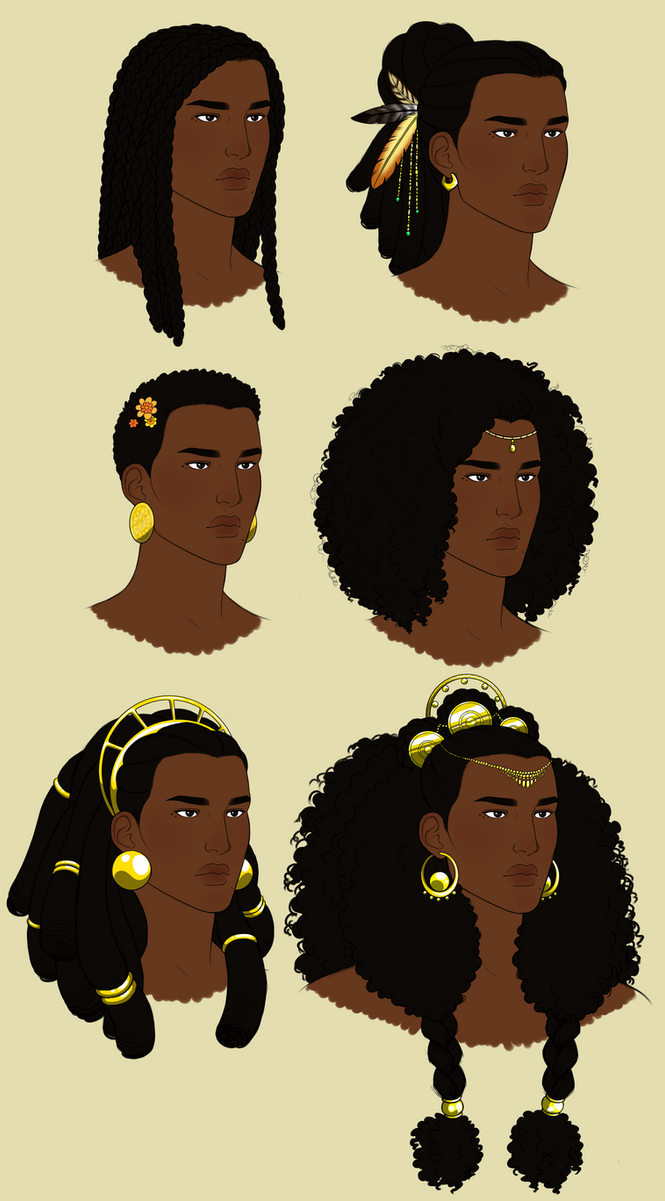 how to draw african hair