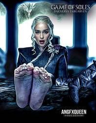 Daenerys Targaryen Emilia Clarke feet foot fetish by ANGFXQUEEN