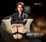 Black Widow Scarlett Johansson feet soles toes