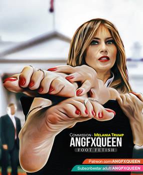 Melania Trump feet foot fetish